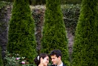 With their wedding's lush garden setting, twinkling lights and breathtaking decor, Simin Lee (27 and a student) and Nicholas Bodnar's (26 and a studen