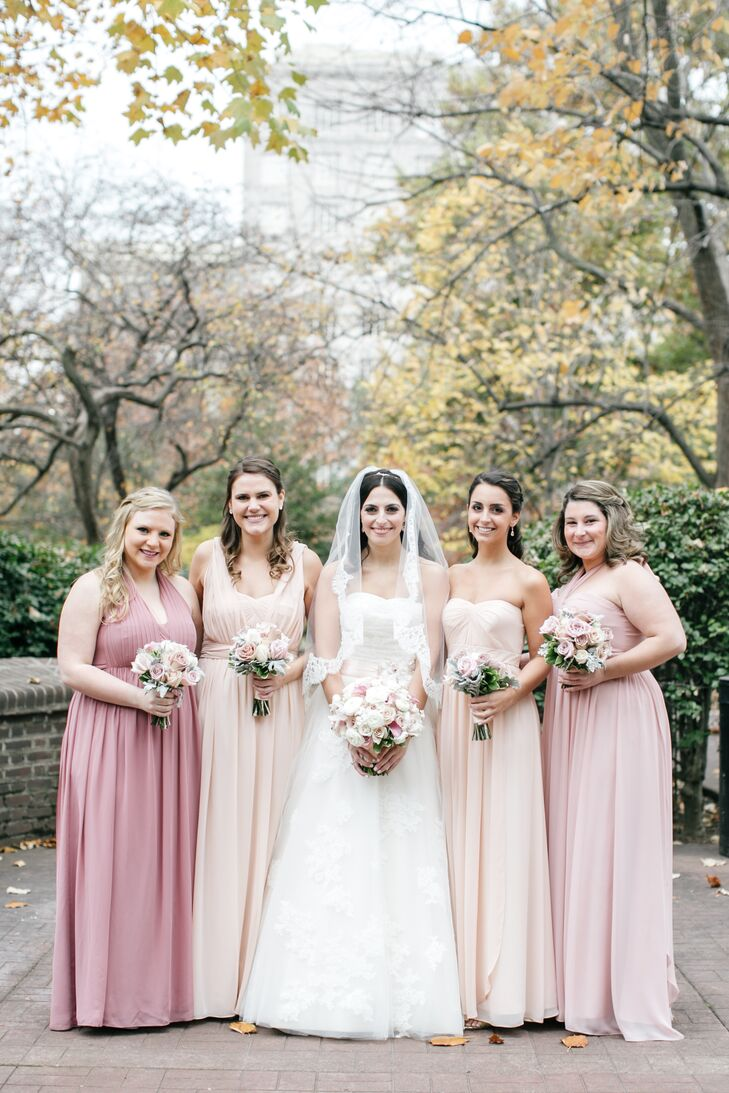 2fa4014618c Full-Length Blush and Rose Pink Bridesmaid Dresses