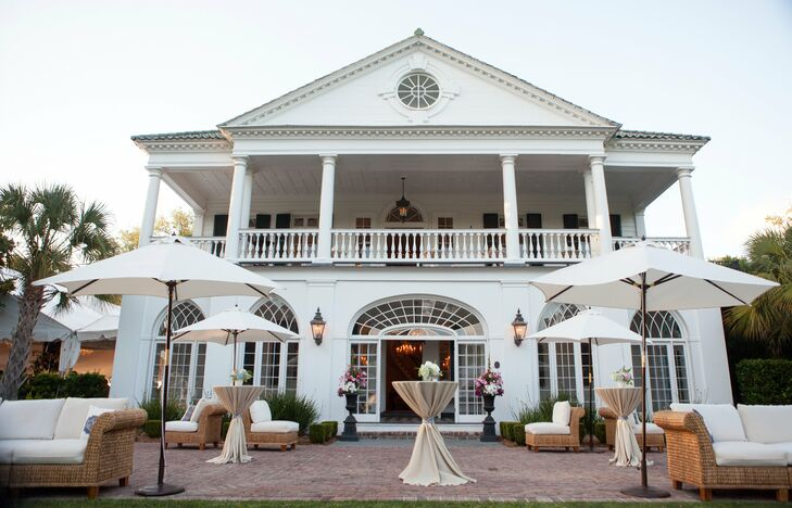 Following a traditional church ceremony, the couple and their guests headed over to the historic Lowndes Grove Plantation for the reception. A relaxed cocktail hour was held outside on the Plantation's grand lawn with the estate's stunning architecture serving as the event's backdrop.