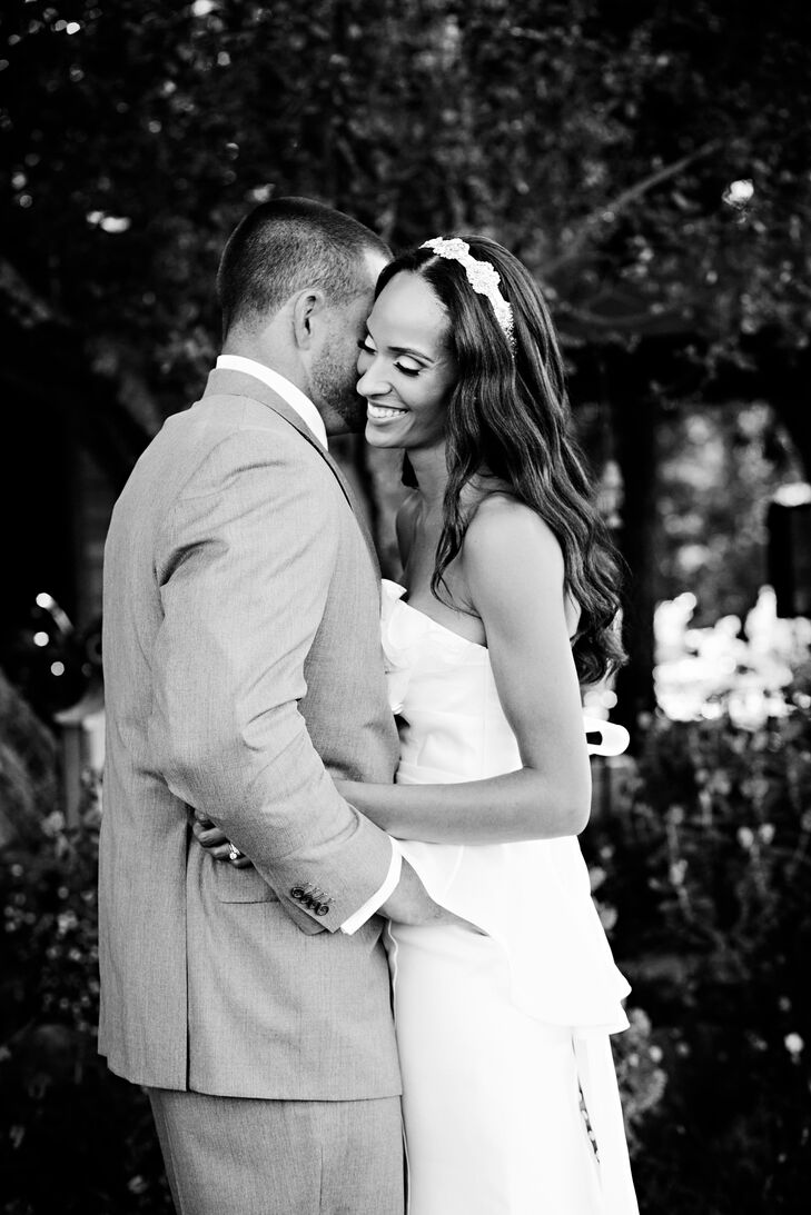 The Bride Marla Lane, 32, a graduate student The Groom Brandon Parks, 34, self-employed The Date July 6  Deciding on their color palette was easy - Br