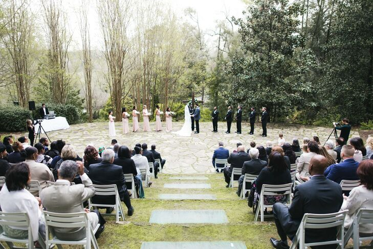 Outdoor Ceremony for Wedding at Dunaway Gardens in Newnan, Georgia