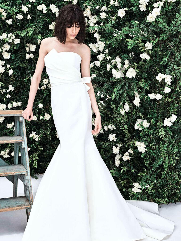 Carolina Herrera​ simple wedding dress