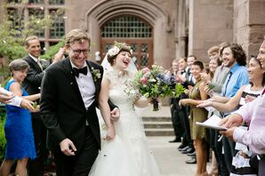Bride and Groom Exiting St. Ann's and The Holy Trinity Church