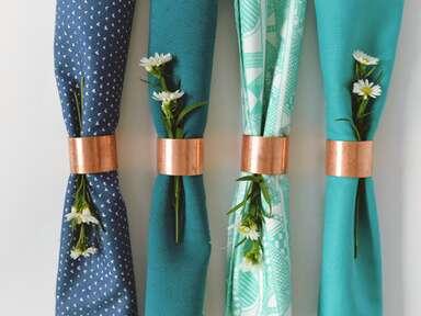 Copper napkin ring DIY ideas
