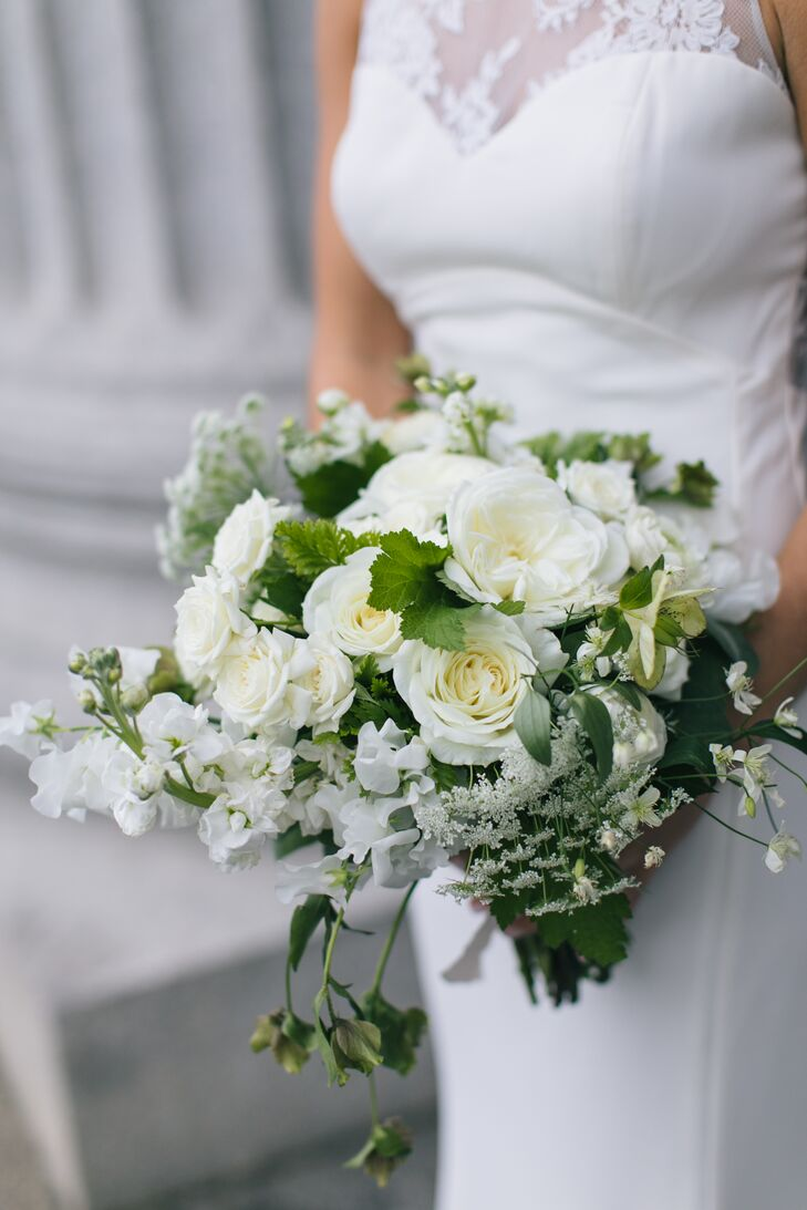Classic Bouquet with Greenery, Baby's Breath and White Peonies