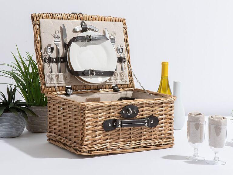 Long-distance dad gift picnic basket