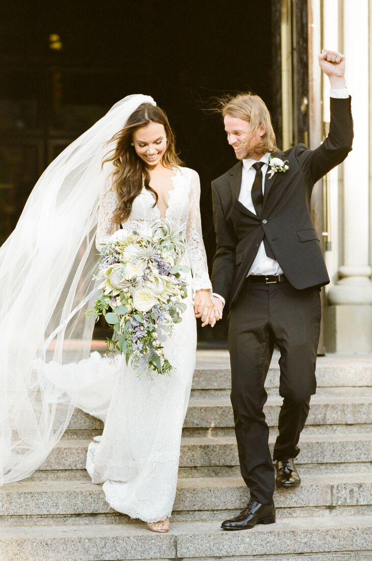 For their early September wedding, Sylvia Krzysztofek (28 and owner of This Girl Sylvia Photography) and Daniel Mackey (31 and chief technical officer