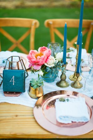 Blue-and-Pink Table Settings