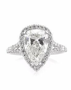 Mark Broumand Unique Pear Cut Engagement Ring