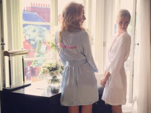 Paris Hilton gets ready for her sister Nicky's wedding to James Rothschild