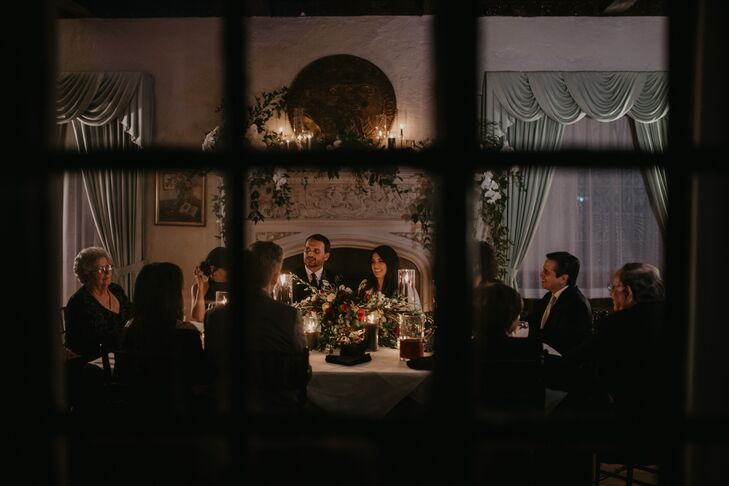 Intimate Seated Dinner at Evening Reception