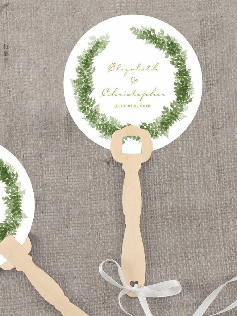 Custom hand fan wedding favors