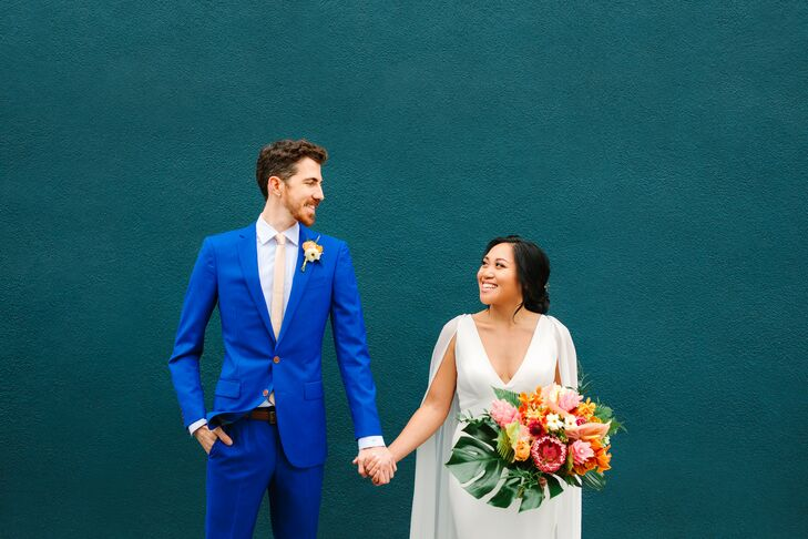 """Melanie Gasmen and Benjamin Fleck's shared love of television informed the overall theme of their wedding day. From a """"Game of Thrones""""-inspired outfi"""