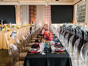 Modern, Colorful Reception at Gallery 308