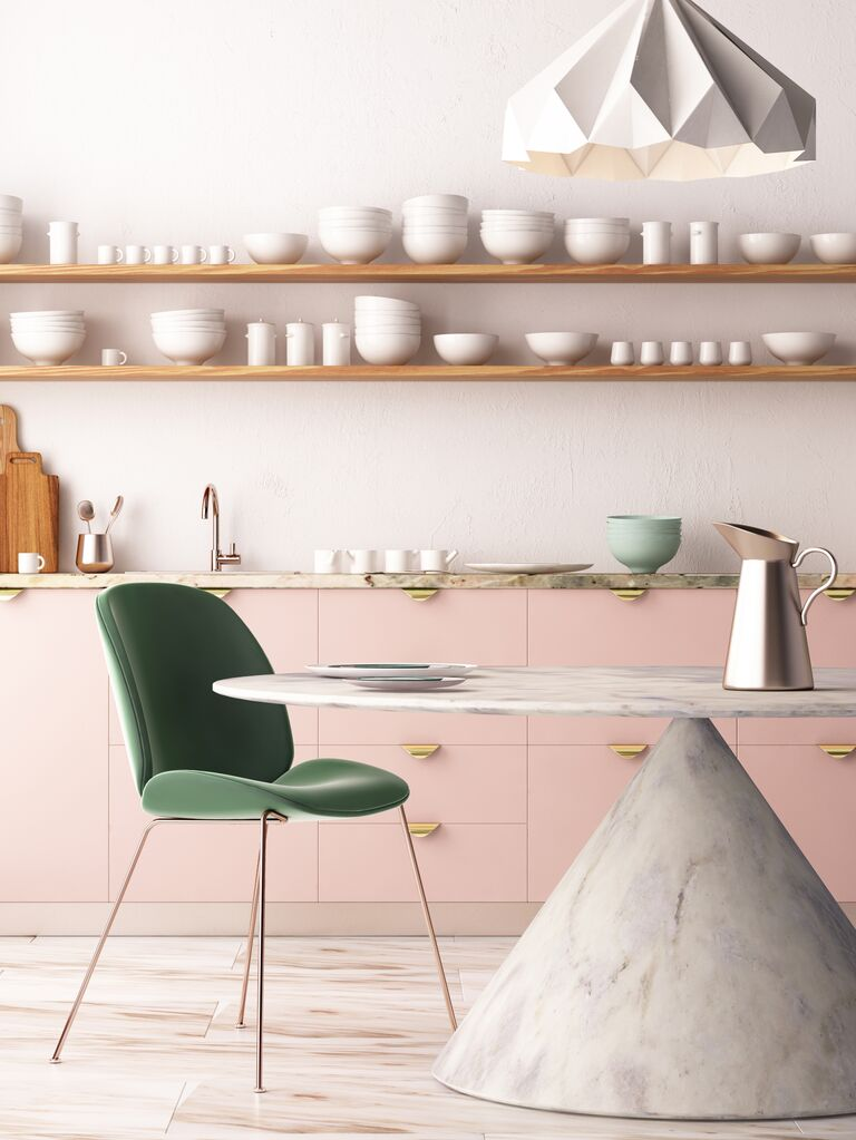 modern kitchen table and chair