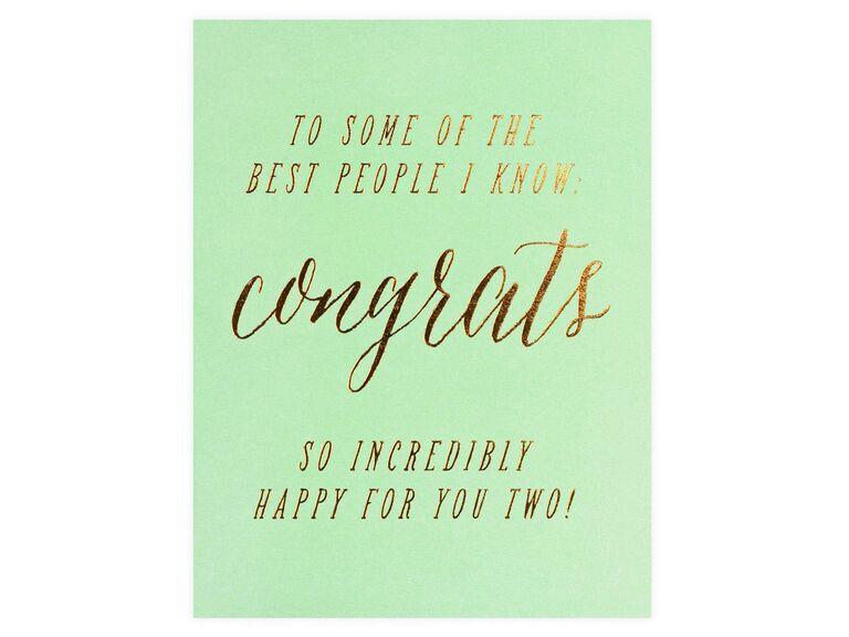 Congratulations wedding cards