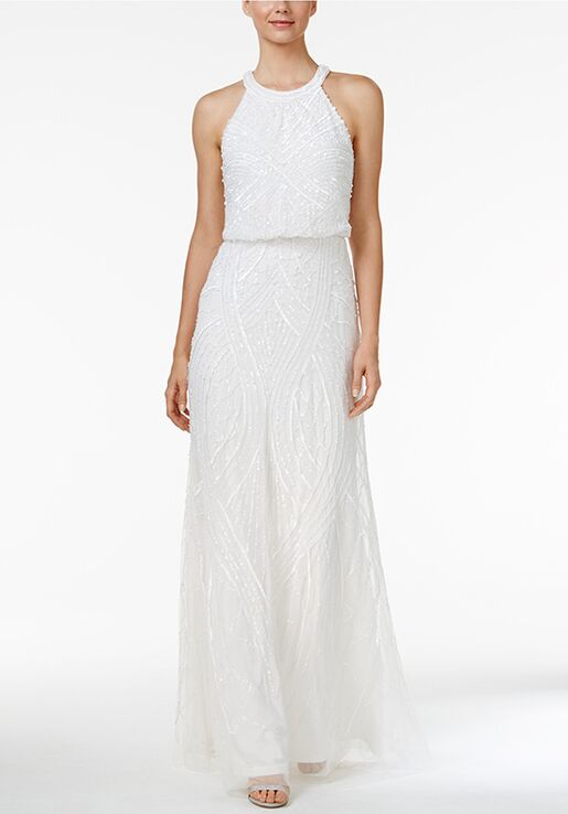 Adrianna Papell Wedding Dresses Adrianna Papell Sequined Blouson ...