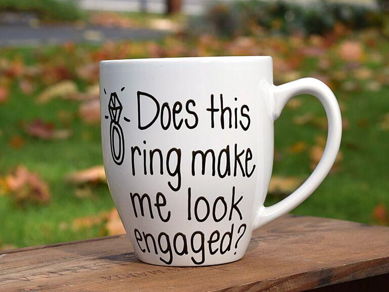 Etsy Engaged Mug Engagement Gift Ideas