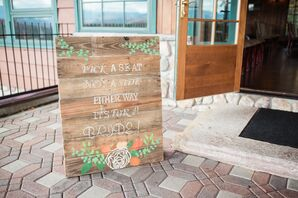 Stenciled Wood Panel Welcome Sign