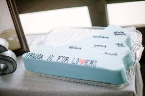 Blue Virginia Groom's Cake