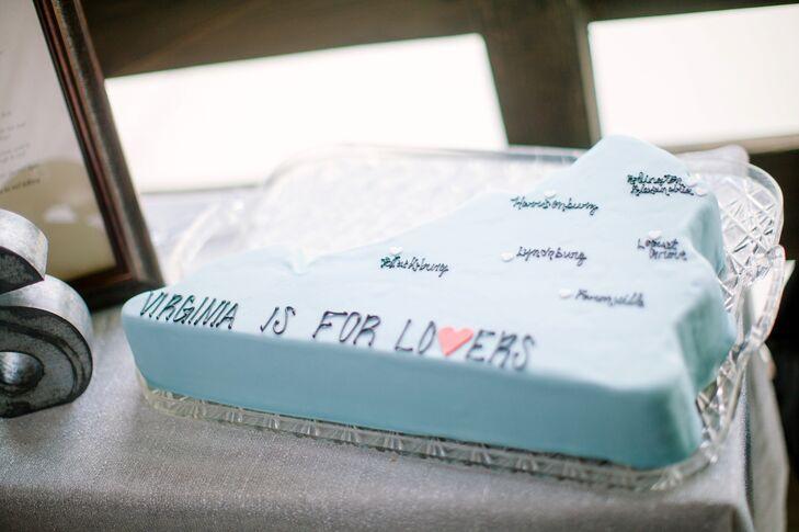 Blue Virginia Groom's Cake