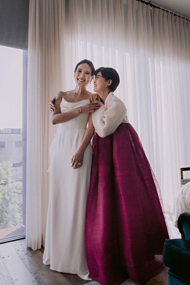 Mother of the Bride Wearing Korean Hanbok
