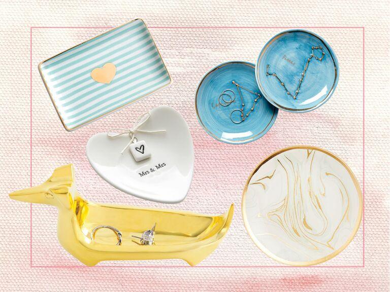 Engagement Ring Dish Bridal shower gift I Said YES Custom Ring Dish Brides gift Ring Dish Jewelry dish Ring holder