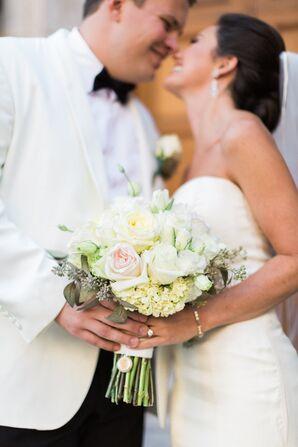 White Hydrangea and Garden Rose Bouquet