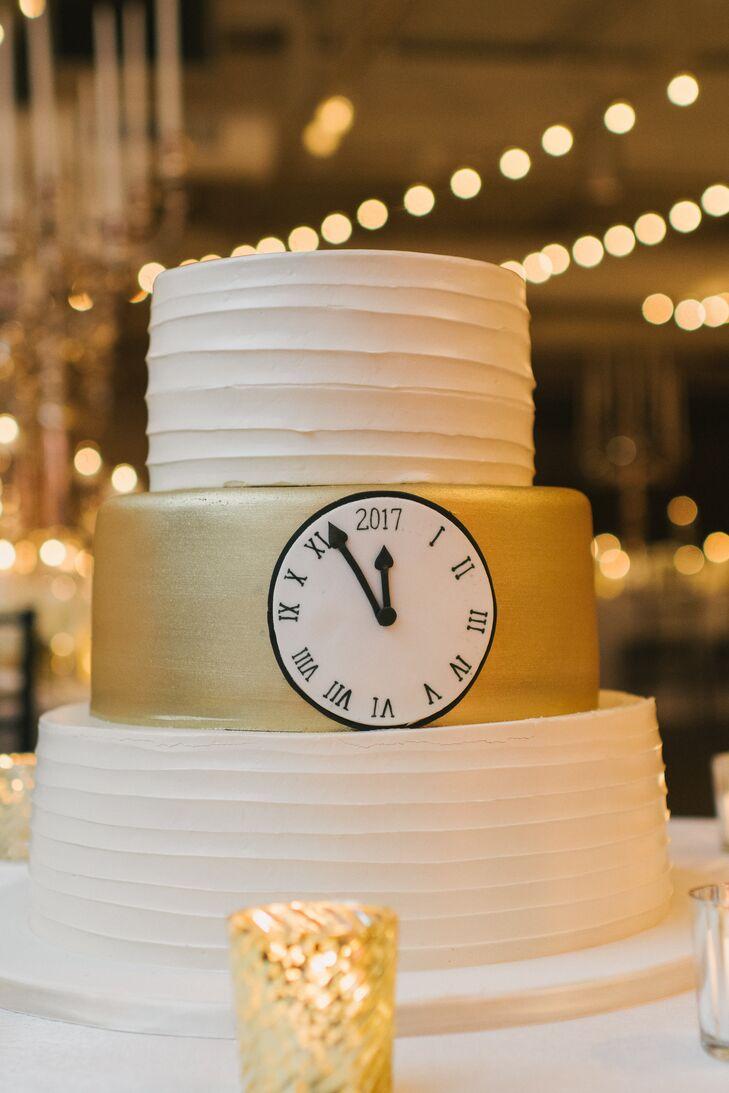 New Year S Eve Inspired Wedding Cake