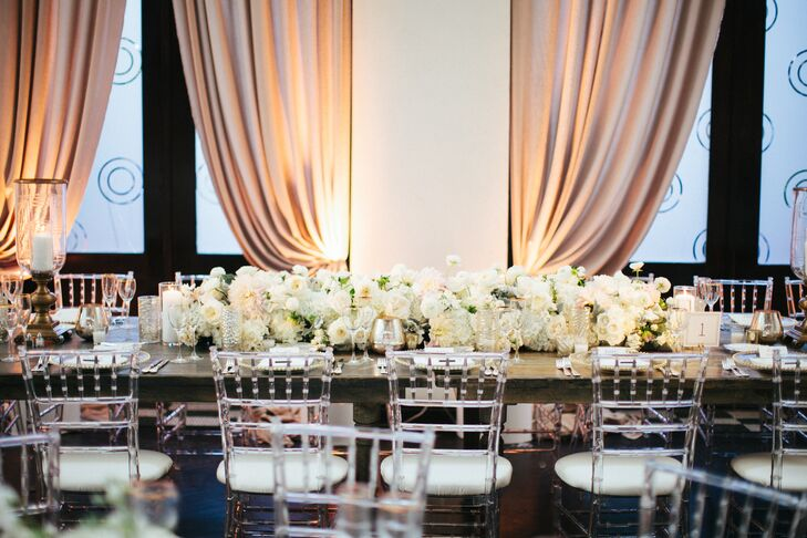 White and Ivory Low Ranunculus Centerpiece