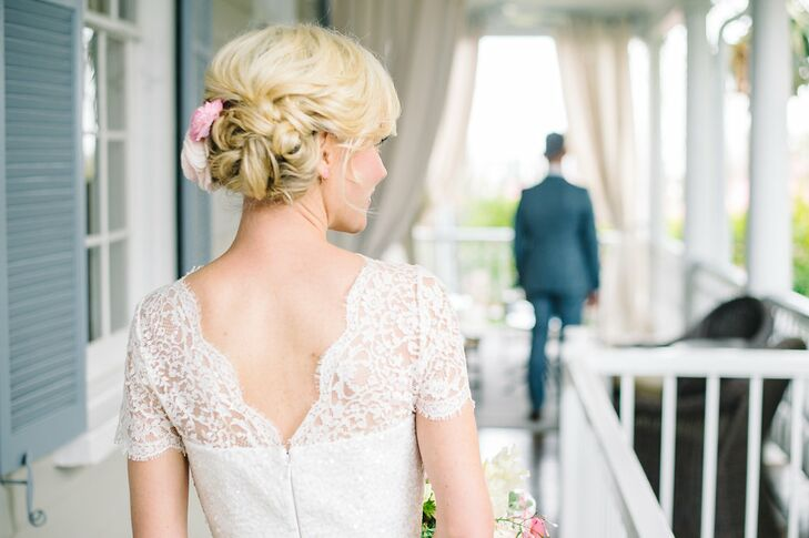 Low, Curled Bridal Updo