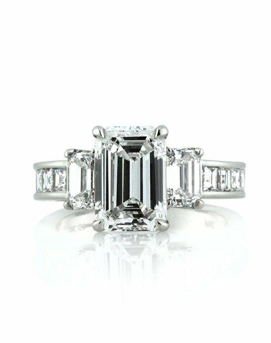 Mark Broumand 4.42ct Emerald Cut Diamond Engagement Ring ...