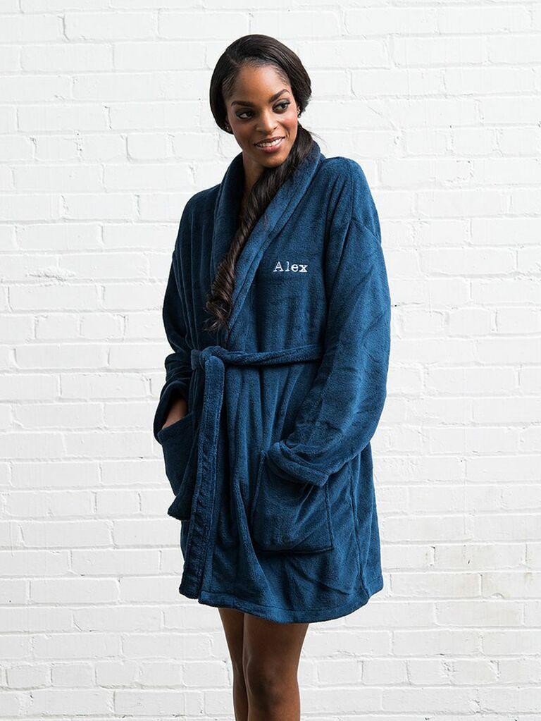 personalized fleece bridesmaid robe