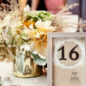 Bold Reception Table Numbers
