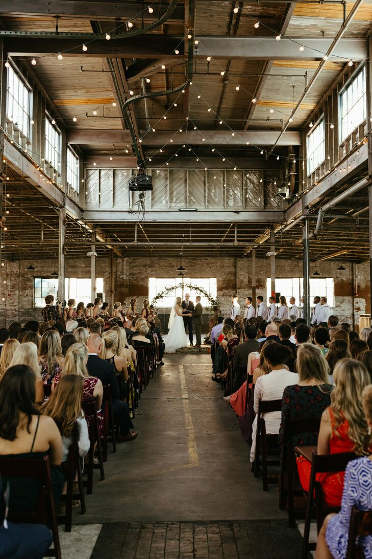 Industrial and Rustic Ceremony at The Glass Factory in Jacksonville, Florida