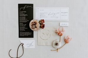 Elegant Menu and Paper Goods