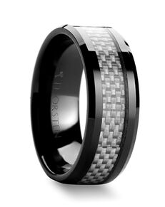 Mens Tungsten Wedding Bands W353-BCCF Tungsten Wedding Ring