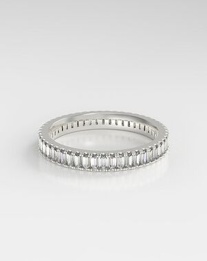 HOLDEN The Column Baguette Rose Gold, Platinum, White Gold Wedding Ring