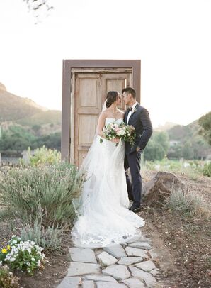 Wedding Portraits at Saddlerock Ranch in Malibu, California