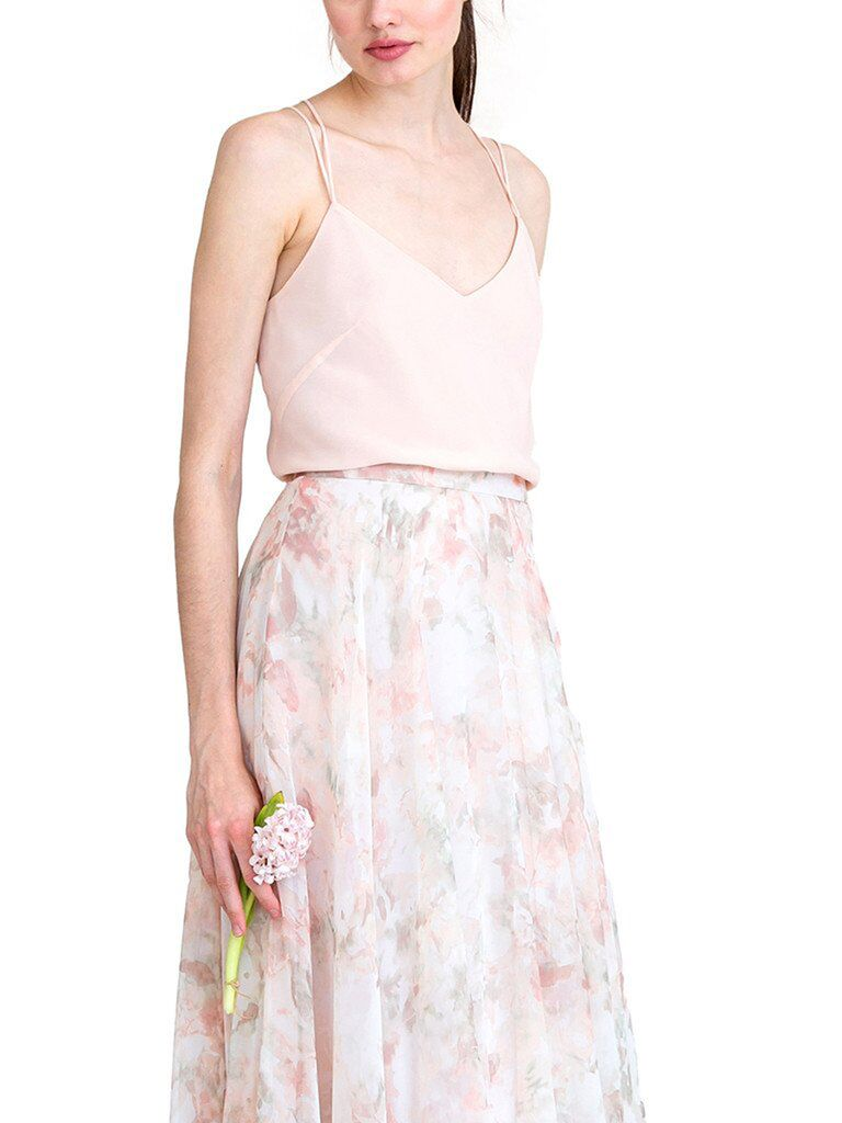 Floral blush bridesmaid separates