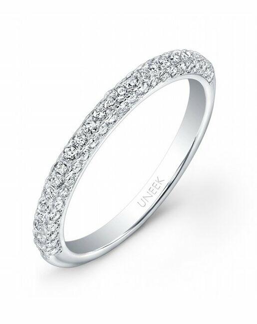 Uneek Fine Jewelry UWB01 White Gold Wedding Ring
