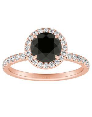 DiamondWish.com Elegant Princess, Round Cut Engagement Ring