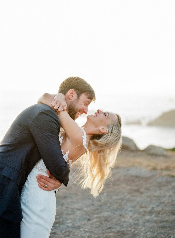 Couple Shares Embrace at Timber Cove Resort in Jenner, California