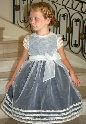 Isabel Garretón Swing Blue Flower Girl Dress