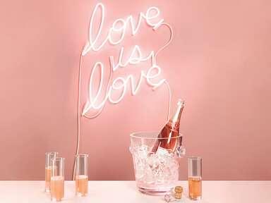 """Love is love"" neon sign"