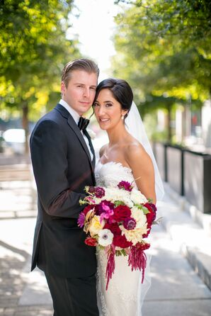 Bride and Groom at W Austin Hotel