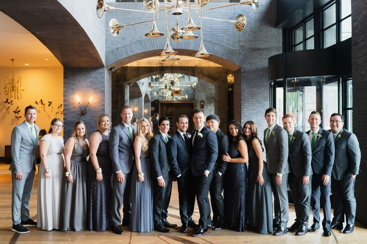 Wedding Party at the Hotel Van Zandt in Austin, Texas