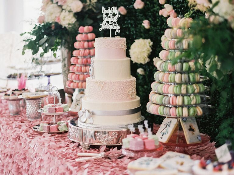Whimsical Tasseled Table With Cakes and French-Inspired Desserts