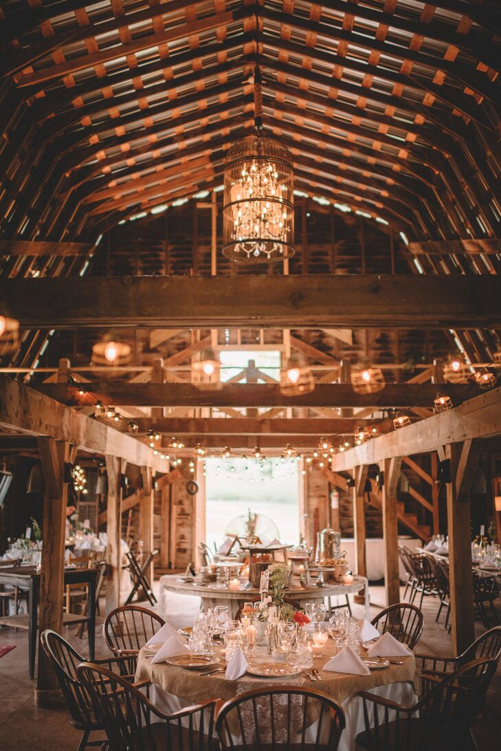 Rustic, Romantic Catering St. Louis Barn Reception