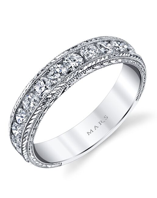 MARS Fine Jewelry MARS Jewelry 14144HE Wedding Band White Gold Wedding Ring